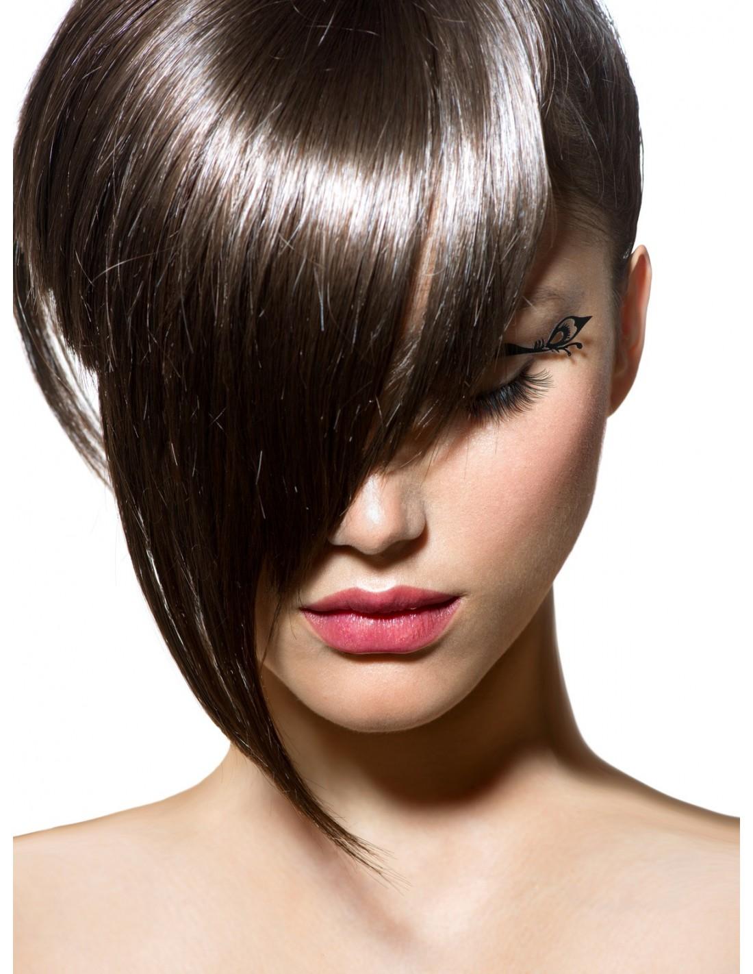 frange longue fa onnable clips en cheveux 100 naturels addict hair. Black Bedroom Furniture Sets. Home Design Ideas