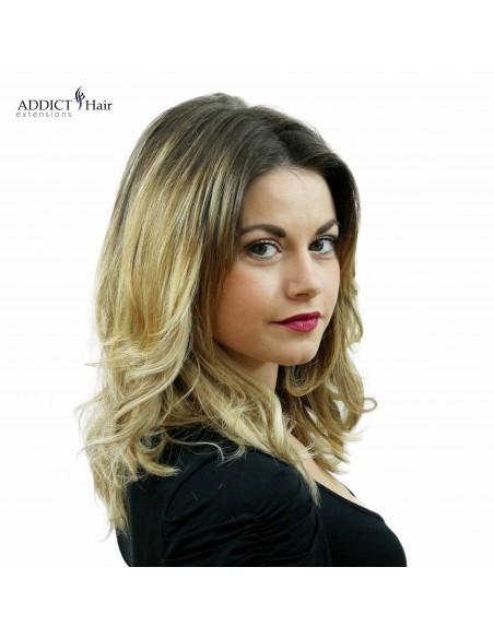 Extension de cheveux naturels à clips mi-longueur