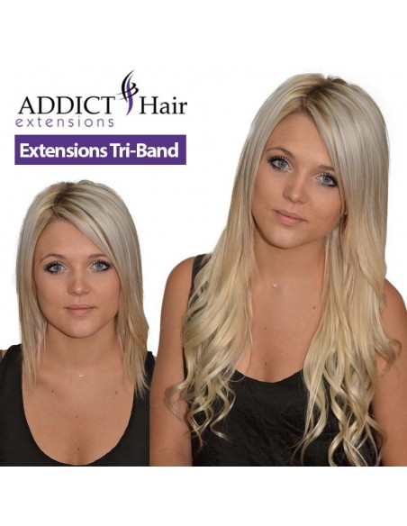 Addict Hair Extensions Tri-Band à clips Cheveux 100% naturels REMY HAIR grade AAA+