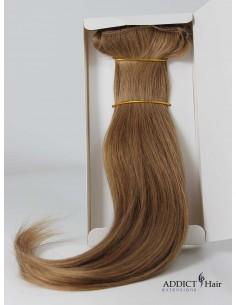 Extensions à Clips - 3 Bandes - Largeur : 29,5/28/12cm - Longueur : env. 40cm - Cheveux 100% Naturels - 118g