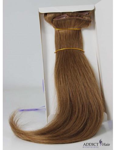 Extensions à Clips - 3 Bandes - Largeur : 30/29/12cm - Longueur : env. 40cm - Cheveux 100% Naturels - 110g