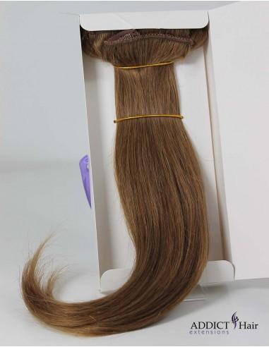 Extensions à Clips - 3 Bandes - Largeur : 28cm/28cm/12cm - Longueur : 40cm - Cheveux 100% Naturels - 107g