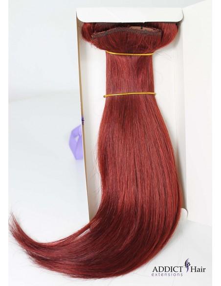Extensions à Clips - 3 Bandes - Largeur : 31cm/29cm/12cm - Longueur : 40cm - Cheveux 100% Naturels - 109g