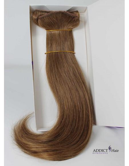 Extensions à Clips - 3 Bandes - Largeur : 30cm/28cm/12cm - Longueur : 38cm - Cheveux 100% Naturels - 119g