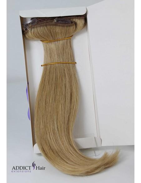 Extensions à Clips - 3 Bandes - Largeur : 31cm/27,5cm/12cm - Longueur : 35cm - Cheveux 100% Naturels - 105g