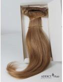 Extensions à Clips - 3 Bandes - Largeur : 30cm/29cm/12,5cm - Longueur : 40cm - Cheveux 100% Naturels - 118g