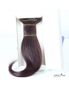 Extensions à Clips - 3 Bandes - Largeur : 30cm/28cm/12cm - Longueur : 38cm - Cheveux 100% Naturels - 107g