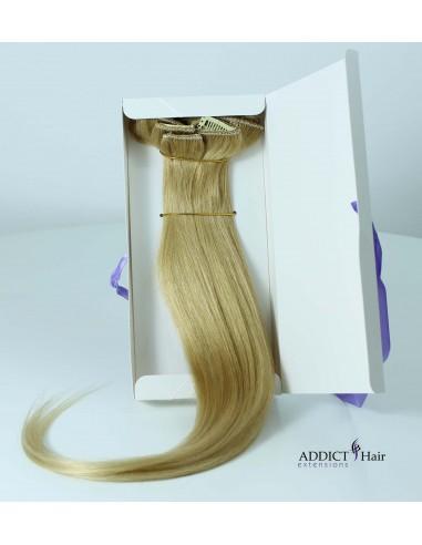 Extensions à Clips - 7 Bandes - Largeur : 20/13/12/10/10/3/3cm - Longueur : 50cm - Cheveux Mixtes (Naturel + Synthétique) - 68g