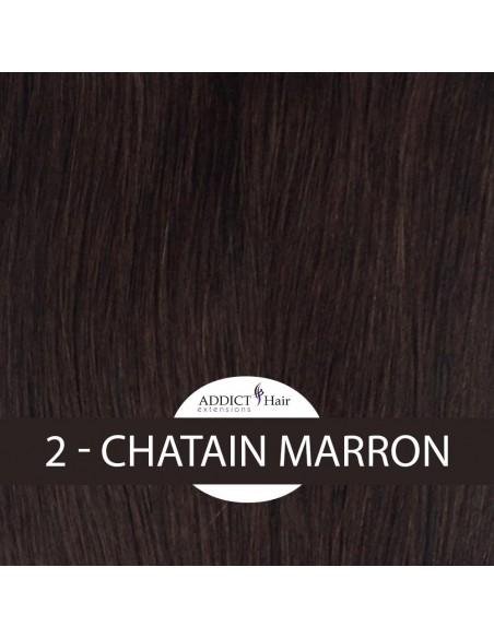 HAIRLOCK - Bandes sur mesure de cheveux naturels à clips